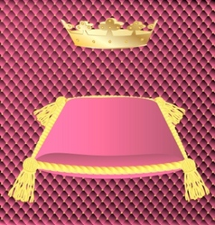 Cushion and crown vector
