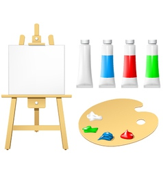 Easel with blank board vector