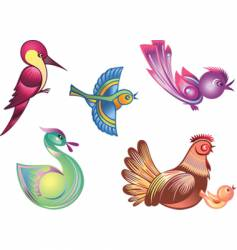 Color birds vector