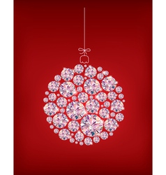 Diamond christmas ball vector