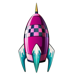 A rocket with a pointed tip vector