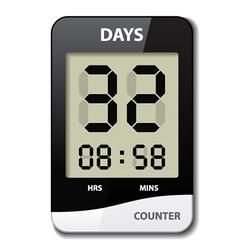 Black white lcd counter - countdown timer vector