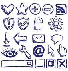 Set of nternet web icons vector
