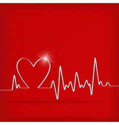 Heart cardiogram background - vector