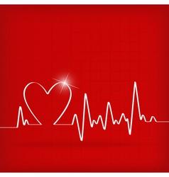 Heart cardiogram background - vector