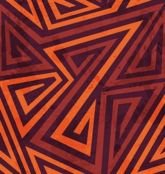Warm color tribal seamless pattern with grunge vector