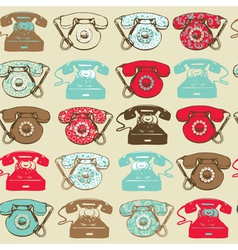 Vintage hand drawn pattern vector
