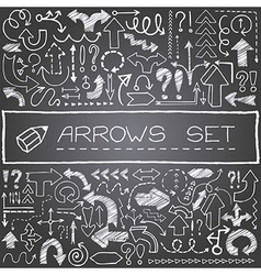 Arrows set vector