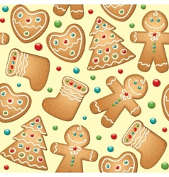 Gingerbread seamless pattern vector