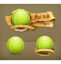 Tennis-ball icon vector