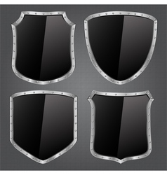 Black shields vector