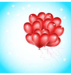 Heat balloons flying vector