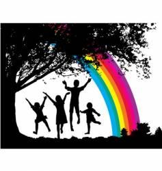 Tree-kids vector