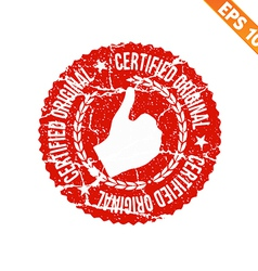 Rubber stamp certified - - eps10 vector