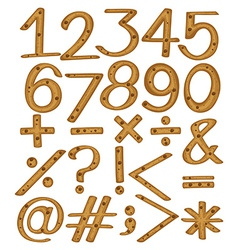 Numerical figures and symbols vector