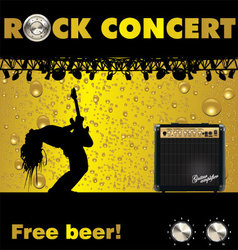 Rock concert free beer wallpaper vector