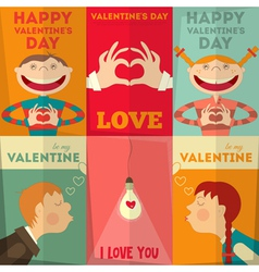 Valentines day posters vector