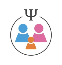 Psychology of family relations vector