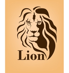 Lion logo design template vector