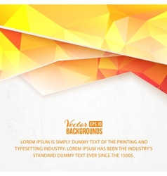Background of orange waves and triangles vector