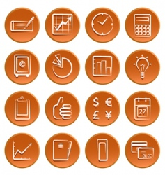 Business symbols vector