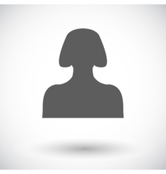 Female avatar flat single icon vector