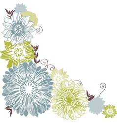 Floral background with hand draun flowers vector