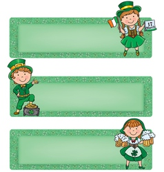 Happy st patrick horizontal banners vector