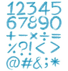 Numbers in blue colors vector