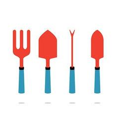 Set of gardening tool vector