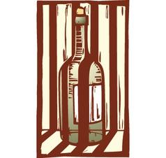 Wine bottle 1 vector