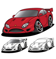 Angry sports car vector