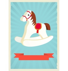 Hobby horse background vector