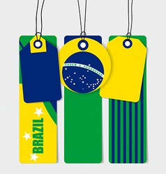 Brazil flags concept design vector