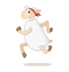 Sports lamb vector