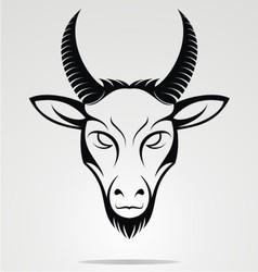 Goat head mascot vector