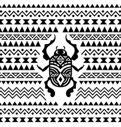 Abstract tribal ornamental background vector