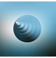 Circles pattern with the reflection of environment vector