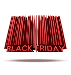 Black friday sales tag in barcode style vector