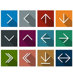 Flat arrow icons vector
