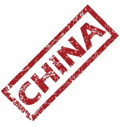 New china rubber stamp vector