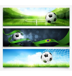 Set of football banners vector