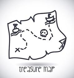 Treasure map design vector