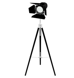 Spotlight on tripod vector