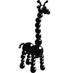 Black giraffe vector