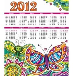 2012 floral calendar vector