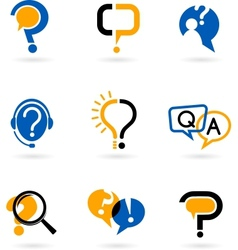 Set of question mark icons vector