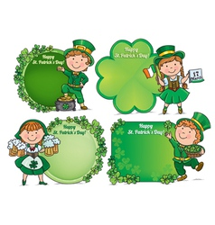 Happy st patricks day greeting banners vector