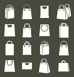 Shopping back icons set shopping theme simplistic vector