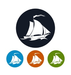 Sailing vessel icon vector